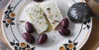 assiette feta et olives noires