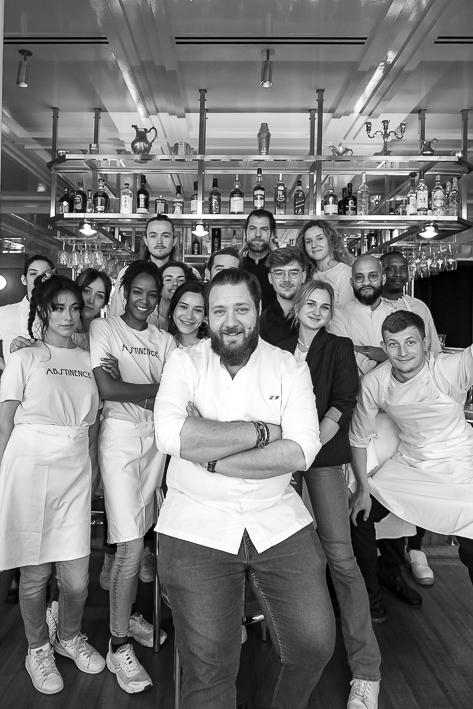 portrait de groupe - Brigade de restaurant