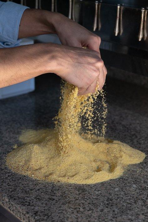 polenta et farine de mais