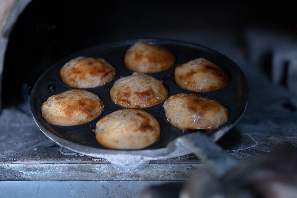 beignets cuit au feu de bois