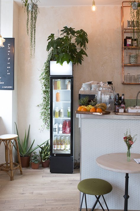 frigo et bar à jus