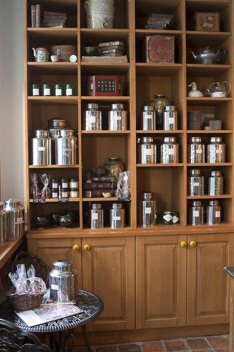 bibliothèque de boites de thés