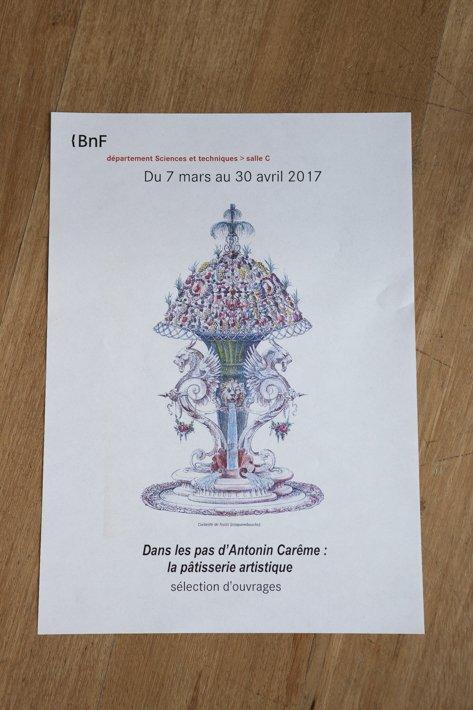 Dans les Pas d'Antonin Carême à la BNF