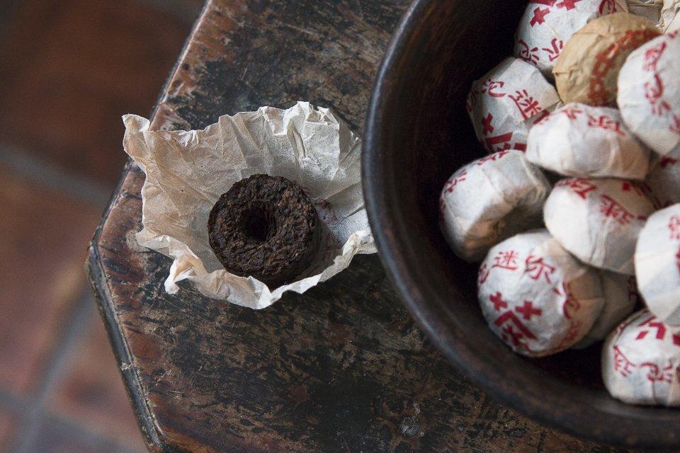 bonbon de thé puerh