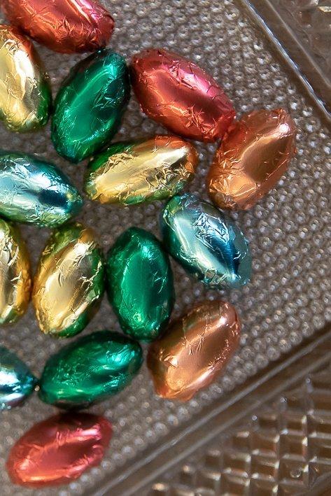 chocolats colorés