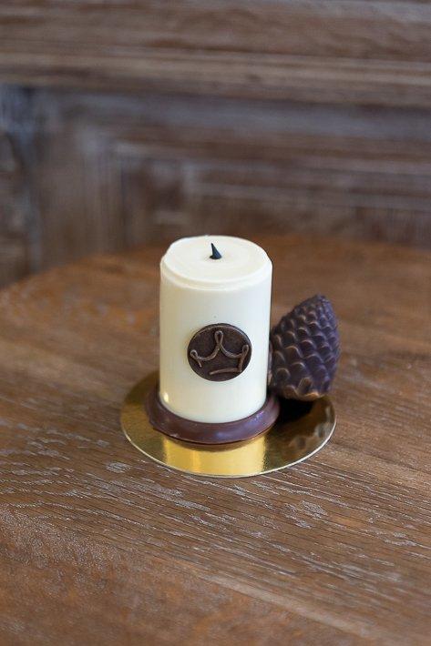 bougies en chocolat