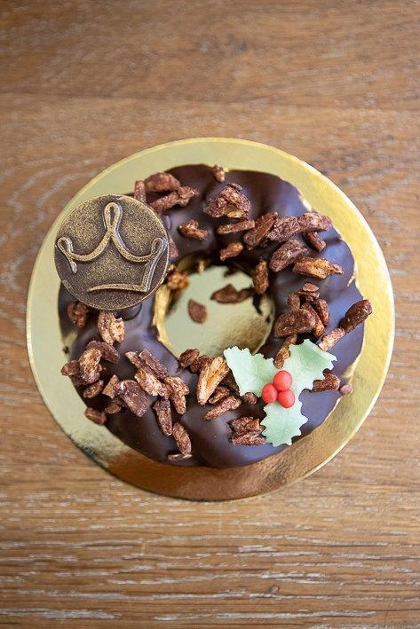couronne chocolat noel