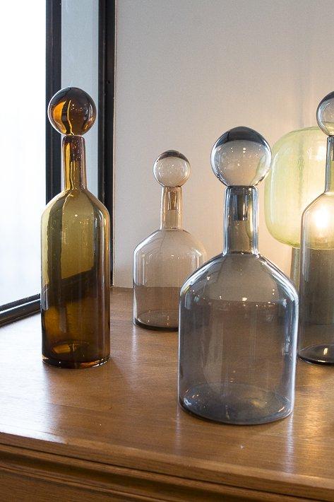 bouteilles en verre decoration