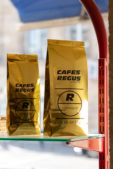 sac de cafés