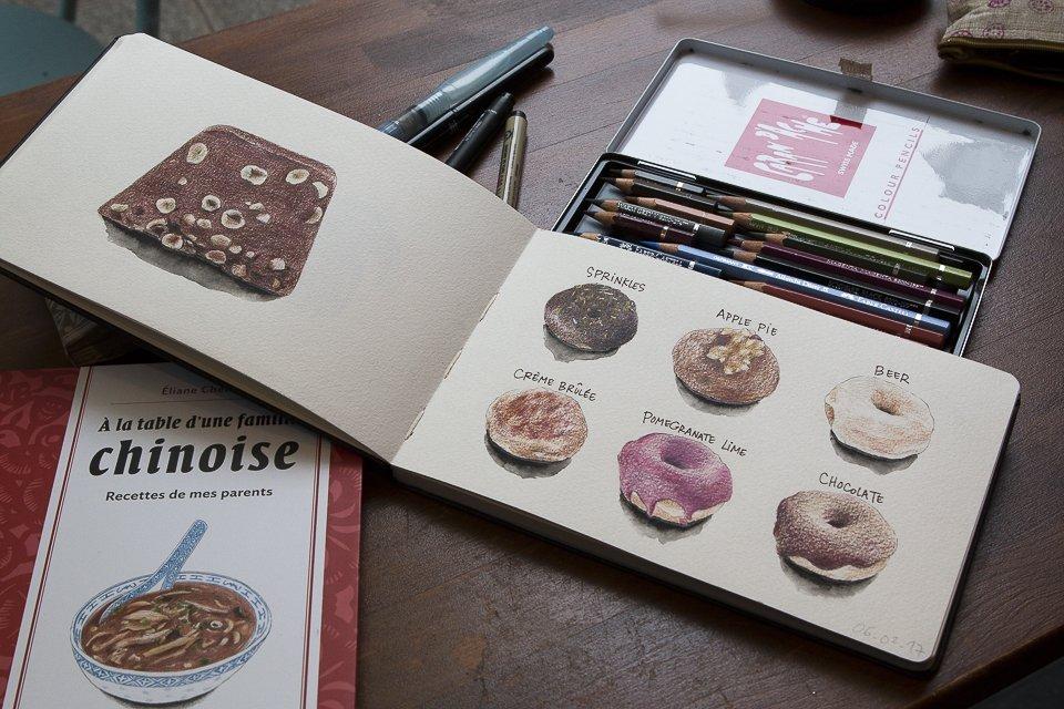 carnets de dessins Eliane Cheung