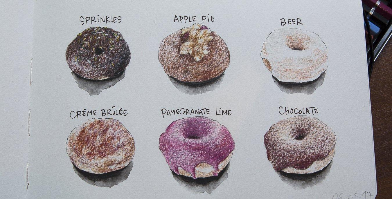 illustration de doughnuts paR Eliane Cheung