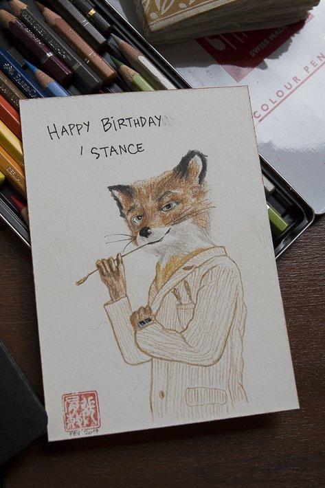 dessin de renard de Eliane Cheung