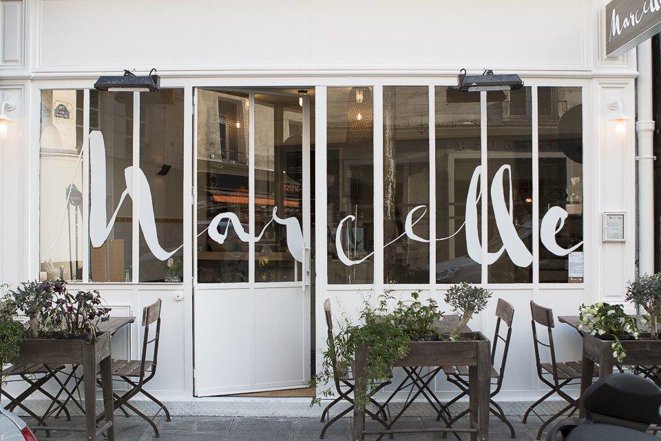 façade et terrasse du restaurant Marcelle