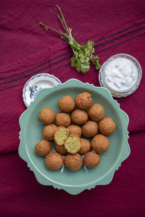 falafel herbes et yaourt