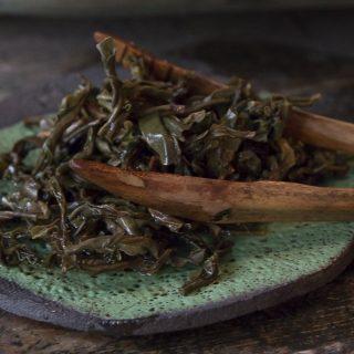feuilles de thé infusées