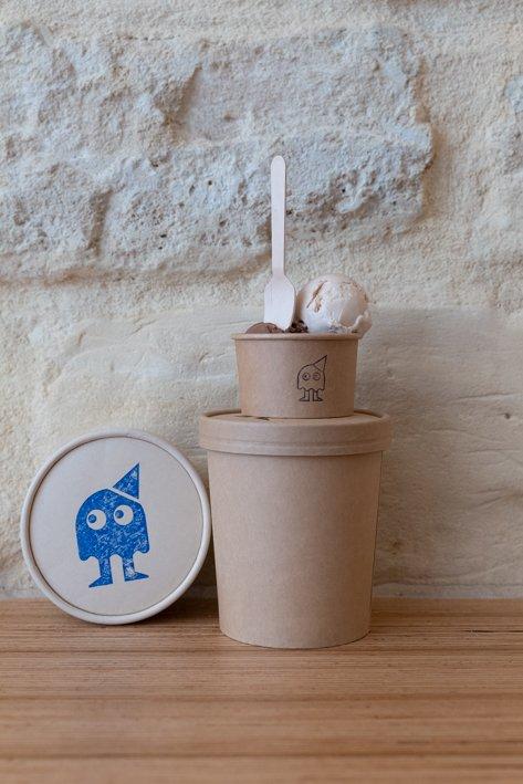 glaces artisanales en pots