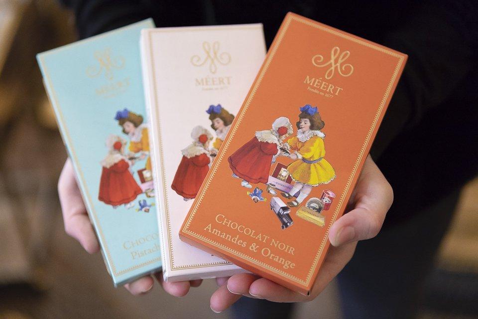 tablette de chocolat boutique Méert