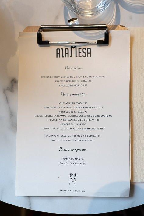 menu alamesa