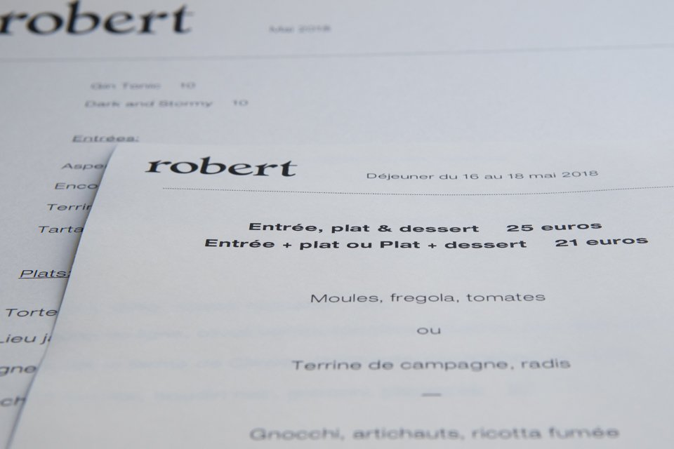 Robert Restaurant Paris 75011