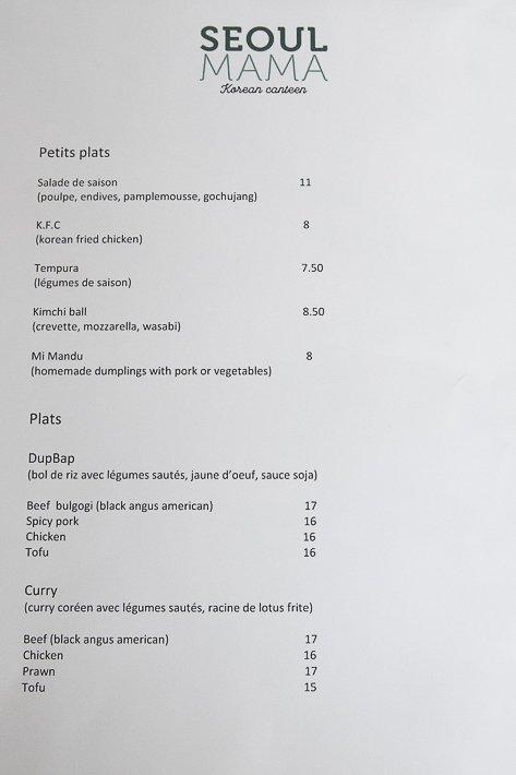 Séoul Mama restaurant coréen