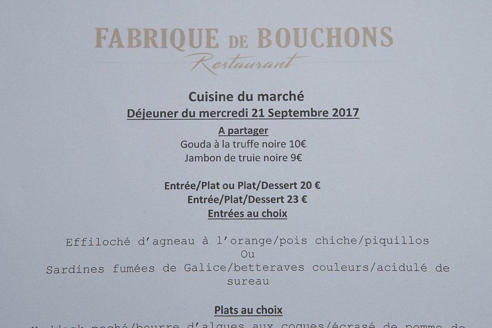 Fabrique de Bouchons restaurant Batignolles