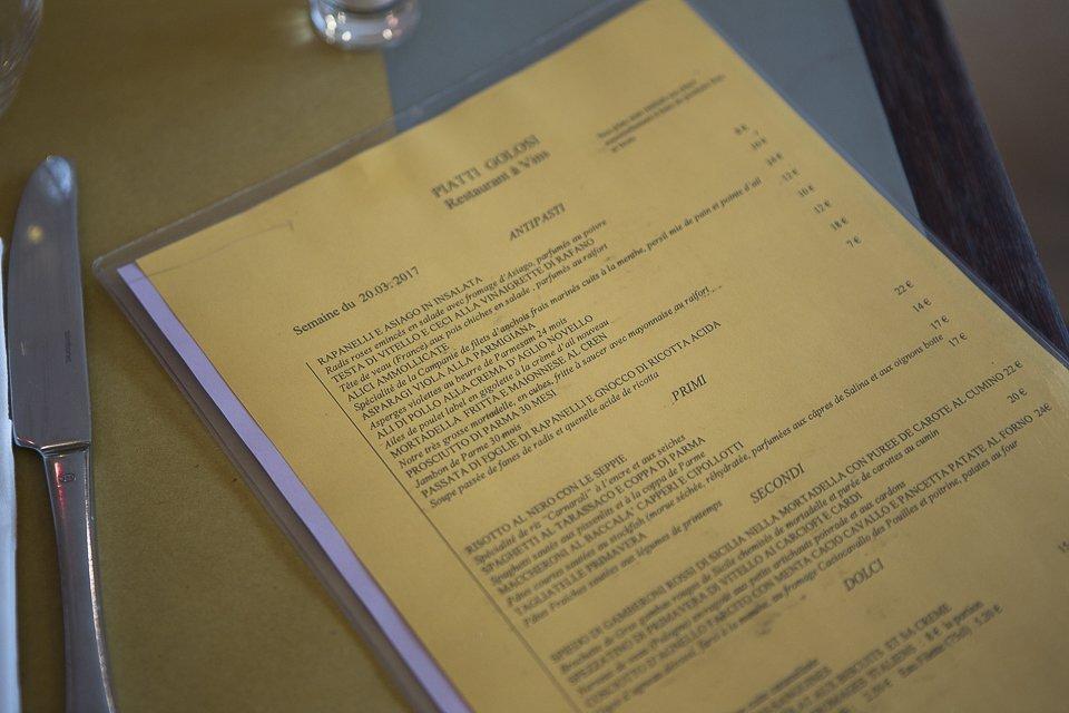 menu I Golosi