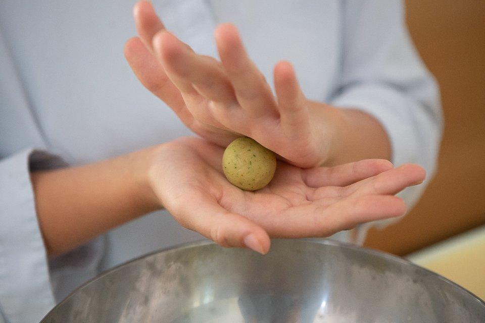 préparation boulette falafel