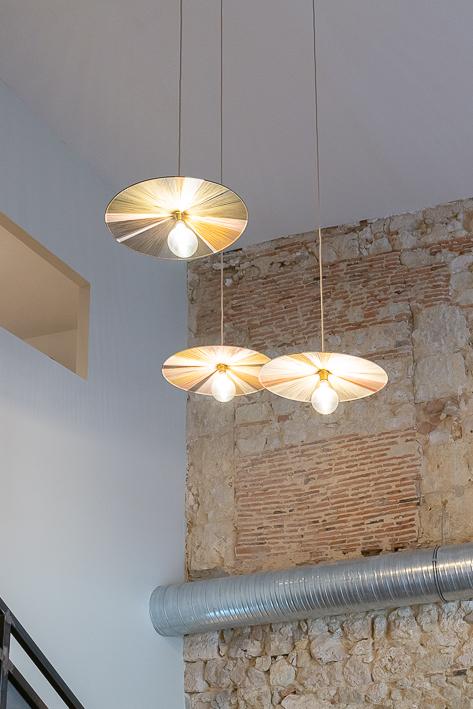 luminaire du restaurant racine à Lectoure