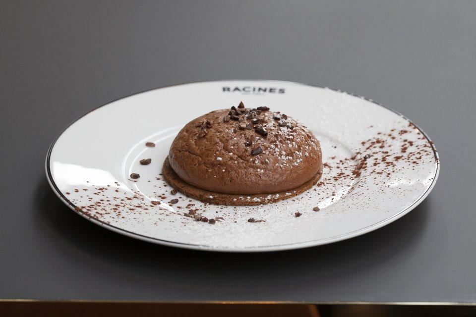 tarte soufflée au chocolat de racines des prés