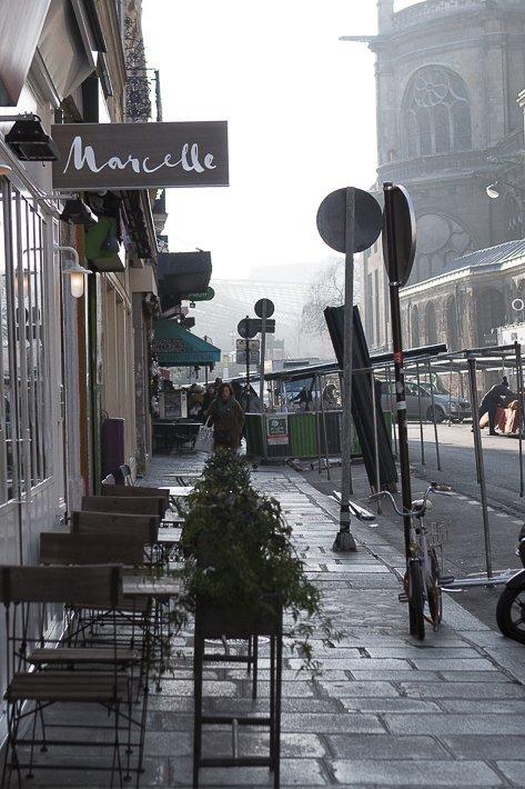 façade du restaurant Marcelle